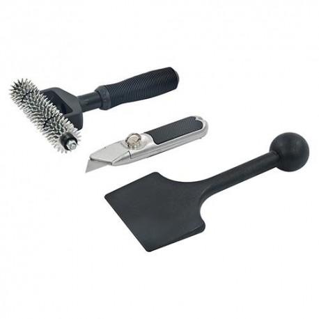 Kit cutter et 2 outils pour la pose de moquette - 558861 - Silverline