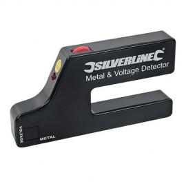 Détecteur de métal et de tension 1 pile 9 V - 568917 - Silverline