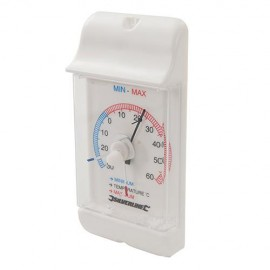 Thermomètre à cadran affichage min/max -30 °C à +60 °C - 573268 - Silverline