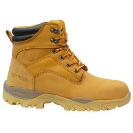 Chaussures montantes de sécurité en cuir Nubuck BUILD - SOLIDUR
