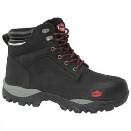 Chaussures montante de sécurité en cuir Nubuck noir et membrane étanche BUILD360 S3 SRC WR - SOLIDUR