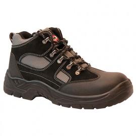 Chaussures montantes de sécurité RALLYE NOIR coquille et semelle acier S1P SRC - SOLIDUR