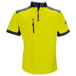 T-Shirt COOLMAX manches courtes Jaune - SOLIDUR