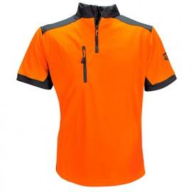 T-Shirt COOLMAX manches courtes Orange - SOLIDUR