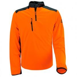 T-Shirt COOLMAX manches longues Orange - SOLIDUR