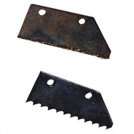 Jeu de 2 lames à dents et carbure pour grattoir à joints 180092 - 180093 - Mejix