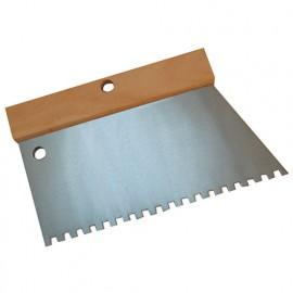 Peigne à colle manche bois L. 220 mm U 6 x 6 - 180231 - Mejix