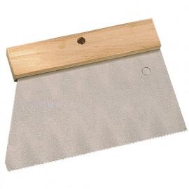 Peigne à colle manche bois L. 185 mm V 3 x 3 -180234 - Mejix