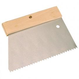 Peigne à colle manche bois L. 185 mm V 5 x 5 - 180235 - Mejix
