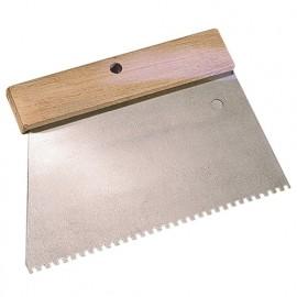 Peigne à colle manche bois L. 185 mm U 3 x 2 - 180238 - Mejix