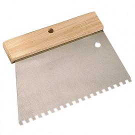 Peigne à colle manche bois L. 185 mm U 5 x 5 - 180239 - Mejix