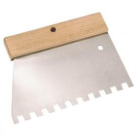 Peigne à colle manche bois L. 185 mm U 9 x 9 - 180240 - Mejix