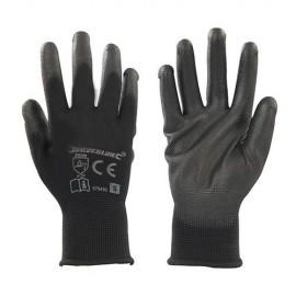 Gants paume renforcée noirs XL - 589144 - Silverline