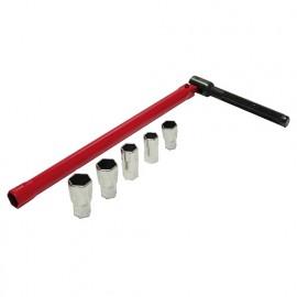 Clé à robinet 13 mm - douilles 8/9/10/11/12 mm - 180498 - Mejix