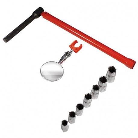 Clé à robinet 13mm - 7 embouts - miroir et ressort - 180499 - Mejix