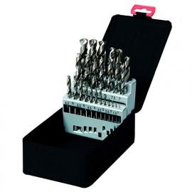 Coffret 25 pcs de forets métaux Pro DIN 338 HSS D. 1 à 13 mm - Diamwood