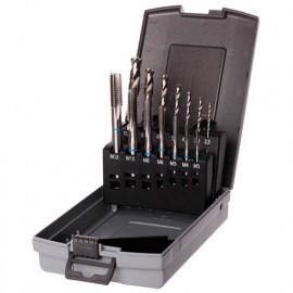 Coffret 14 pcs DIN 371-376 HSS perçage, taraudage M3 à M12 mm - Diamwood