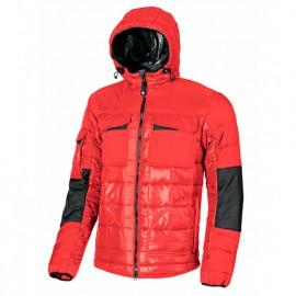 Anorak de travail en tissu bimatière avec deux poches poitrine fermeture velcro - PROGRESS Red Magma - EX064RM - U-Power