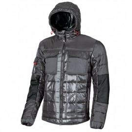 Anorak de travail en tissu bimatière avec deux poches poitrine fermeture velcro - PROGRESS Grey Lead - EX064GL - U-Power