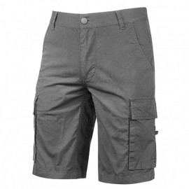 Bermuda cargo en toile de coton élasthanne - SUMMER Grey Iron - EY132GI - U-Power