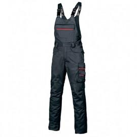 Cotte à bretelles de travail avec bavette équipée d'une poche extérieur zippée - JOKE Deep Blue - HY020DB - U-Power