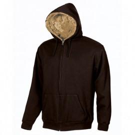 Sweat de travail zippé entièrement doublée en fourrure écologique - FUR Creme Brulee - EY038CB - U-Power
