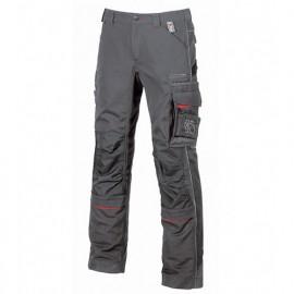 Pantalon de travail avec deux grandes poches italiennes et poche zippée cachée - DRIFT Grey Meteorite - IM010GM - U-Power