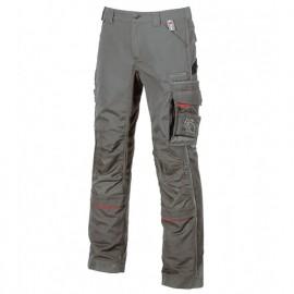 Pantalon de travail avec deux grandes poches italiennes et poche zippée cachée - DRIFT Stone Grey - IM010SG - U-Power