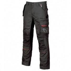 Pantalon de travail avec poche amovible fly pocket - RACE Black Carbon - SY001BC - U-Power