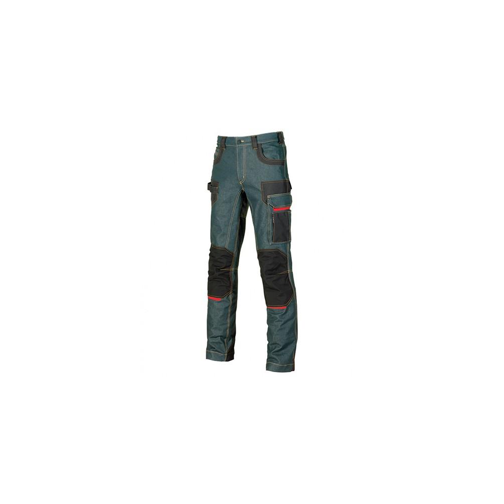 Platinum Button Rust Jeans U-Power U-Power EX069RJ Pantalon de Travail en Jean Stretch avec Inserts en Cordura