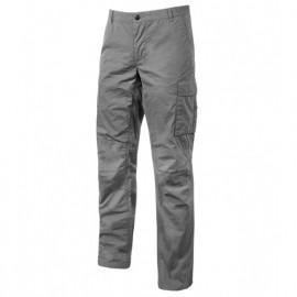 Pantalon de travail en toile coton élastiquée coupe Slim Fit - OCEAN Grey Iron - EY123GI - U-Power