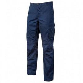 Pantalon de travail en toile coton élastiquée coupe Slim Fit - OCEAN Westlake Blue - EY123WB - U-Power