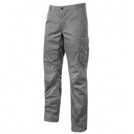 Pantalon de travail en toile coton élastiquée effet vieilli et délavé - BALTIC Grey Iron - EY128GI - U-Power