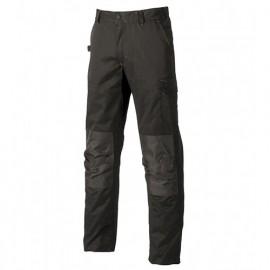 Pantalon de travail avec poches genouillère réglables - ALFA Black Carbon - ST068BC - U-Power