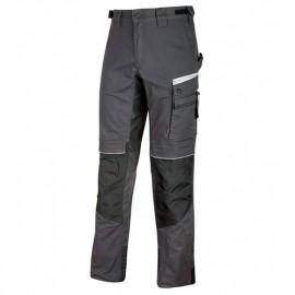 Pantalon de travail TC stretch canvas avec deux poches italiennes - FLASH ASPHALT GREY - PE116AG - U-Power