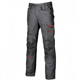 Pantalon de travail doté de deux grandes poches italiennes - FREE Grey Meteorite - DW022GM - U-Power