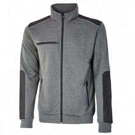 Sweat-shirt de travail en French Terry non gratté - GYM Grey Meteorite - EY122GM - U-Power