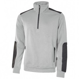 Sweat-shirt de travail semi-zippé en French Terry non gratté - PERFECT GREY SILVER - EY121SG - U-Power