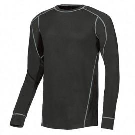 T-shirt manches longues thermique respirant et thermorégulatrice - ALPIN Black Carbon - SK052BC - U-Power