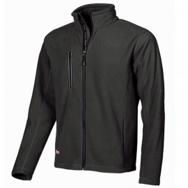 Veste de travail polaire zippée avec logo U-Power en hot press - WARM Black Carbon - EY040BC - U-Power