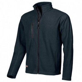 Veste de travail polaire zippée avec logo U-Power en hot press - WARM Deep Blue - EY040DB - U-Power