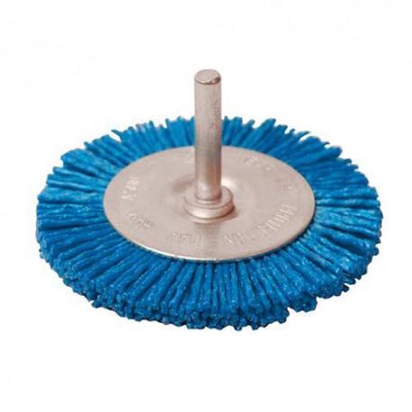 Brosse à fils nylon grossier D. 100 mm sur tige - 589713 - Silverline