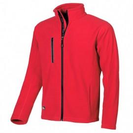 Veste de travail polaire zippée avec logo U-Power en hot press - WARM Red Magma - EY040RM - U-Power
