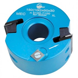Porte-outils à profiler - Feuillurer D. 100 mm Al. 30 mm Ht. 50 mm Z.2 et V2 - 093.50.30 - Leman