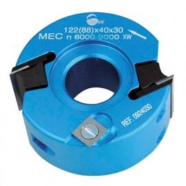 Porte-outils à profiler - Feuillurer D. 90 mm Al. 30 mm Ht. 40 mm Z.2 et V2 - 092.40.30 - Leman
