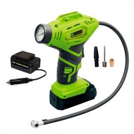 Compresseur gonfleur sans fil avec chargeur de voiture et accessoires - 18V - 1,3 Ah - ZI-LPE20-AKKU - Zipper