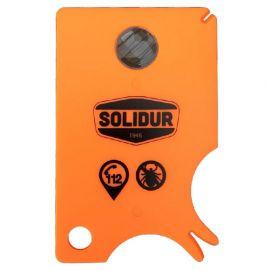 Carte à tiques SOLIDUR pratique pour enlever les tiques facilement et en toute sécurité - CAT - Solidur