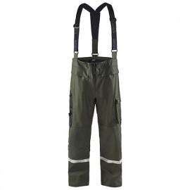 Pantalon de pluie haute-visibilité niveau 2 - 4600 Vert armée - Blaklader