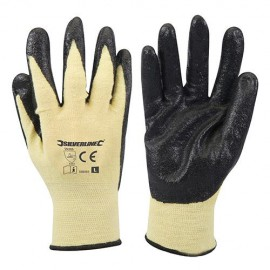 Gants mélange kevlar enduction nitrile Large - 598485 - Silverline