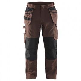 Pantalon service stretch avec poches flottantes - 7899 Marron/Noir - Blaklader
